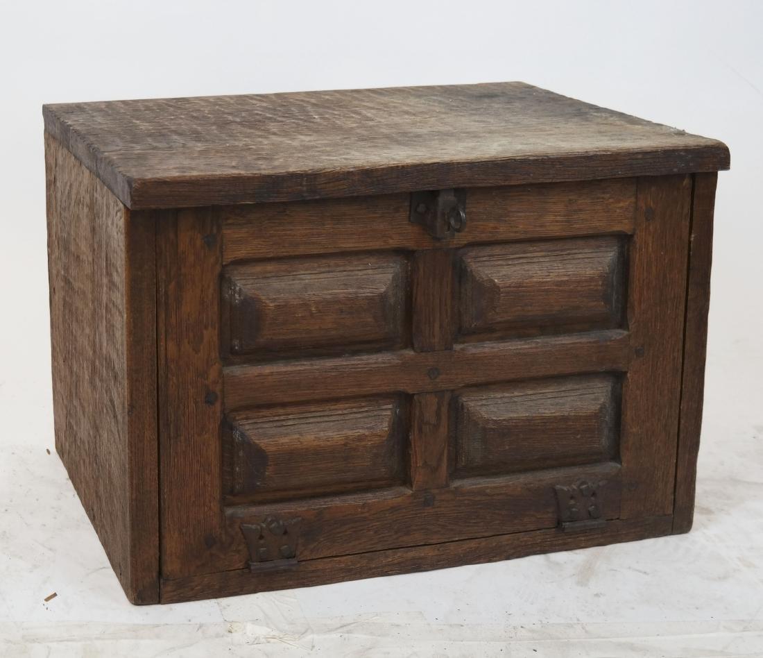 Antique Tudor-Style Box/Trunk