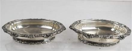 Pair Tiffany  Co Silverplate Dip Bowls