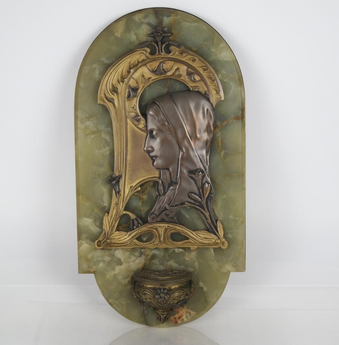 Bronze & Alabaster Holy Water Font