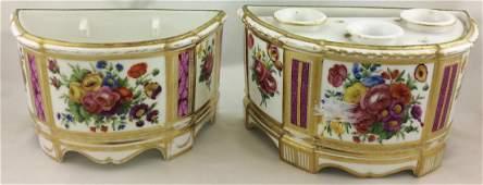 Two Similar French Porcelain Tulipieres Planters