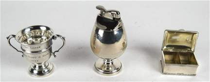 Sterling Silver Table Lighter Stamp Box  Cup
