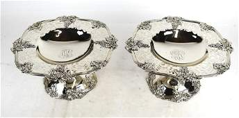 Pair of Sterling Silver Whiting Tazzas
