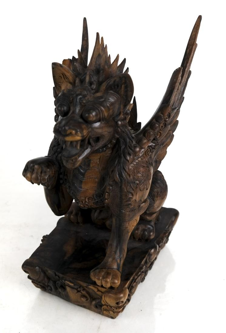 Indonesian Winged Demon/Animal Sculpture
