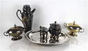 Assorted Silver Plate Hollowware (6)