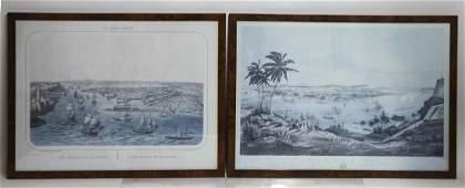 Two Framed Prints of Havana Views