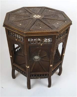 Moroccan Octagonal Table W/ Relief Design