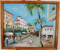 Claire CHASANOFF Palm Beach  Oil on Canvas