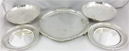 Lot of 5: Sheffield Silver Plate Platter, More