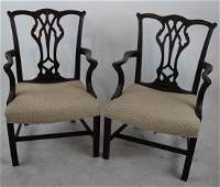 Pair Antique George III-Style Arm Chairs