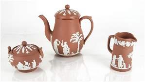 Wedgwood Jasperware ThreePiece Tea Set 2535