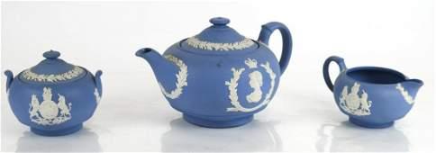 Wedgwood Jasperware 3Piece Tea Set