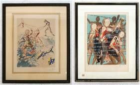 Salvador DALI:  Two Lithographs