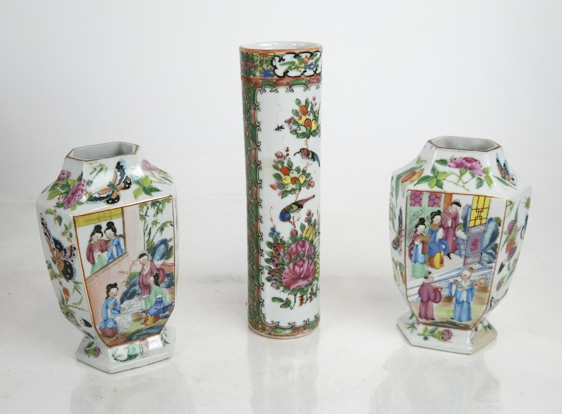 Lot of 3 Chinese Export Porcelain Articles