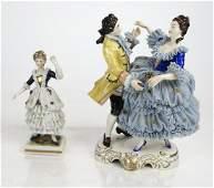 Two Dresden Porcelain Figurines - Dancers