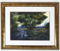 """Michael SCHOFIELD: """"April Rain"""" - Watercolor"""