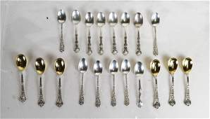 Lot Of 19 Assorted Sterling Silver Spoons
