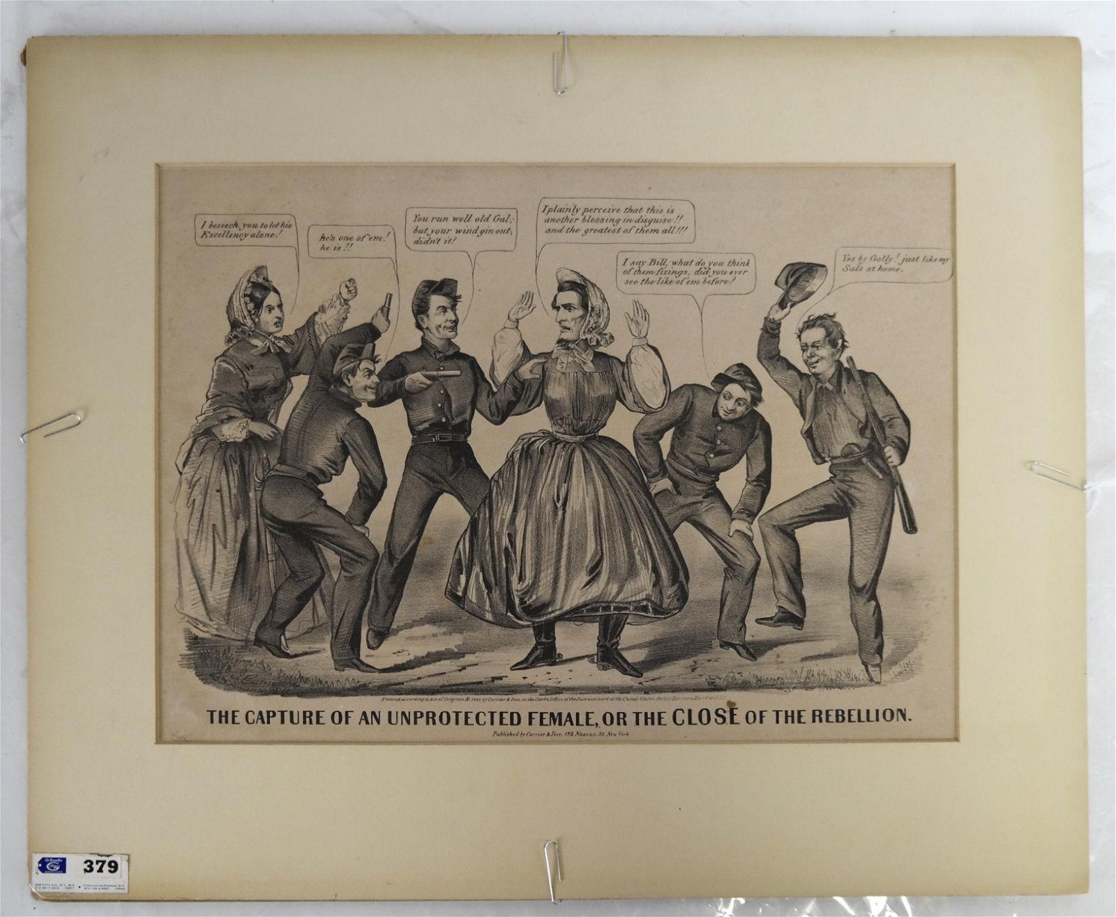 "Currier & Ives Lithograph ""Capture..."", C.1865"
