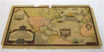 Map Charles Lindbergh Overland and Overseas Flight