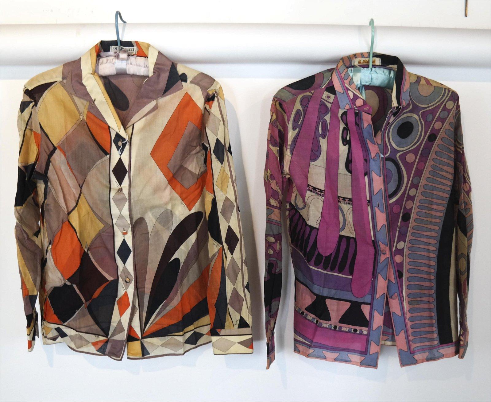 Two Emilio Pucci Cotton Blouses SFA