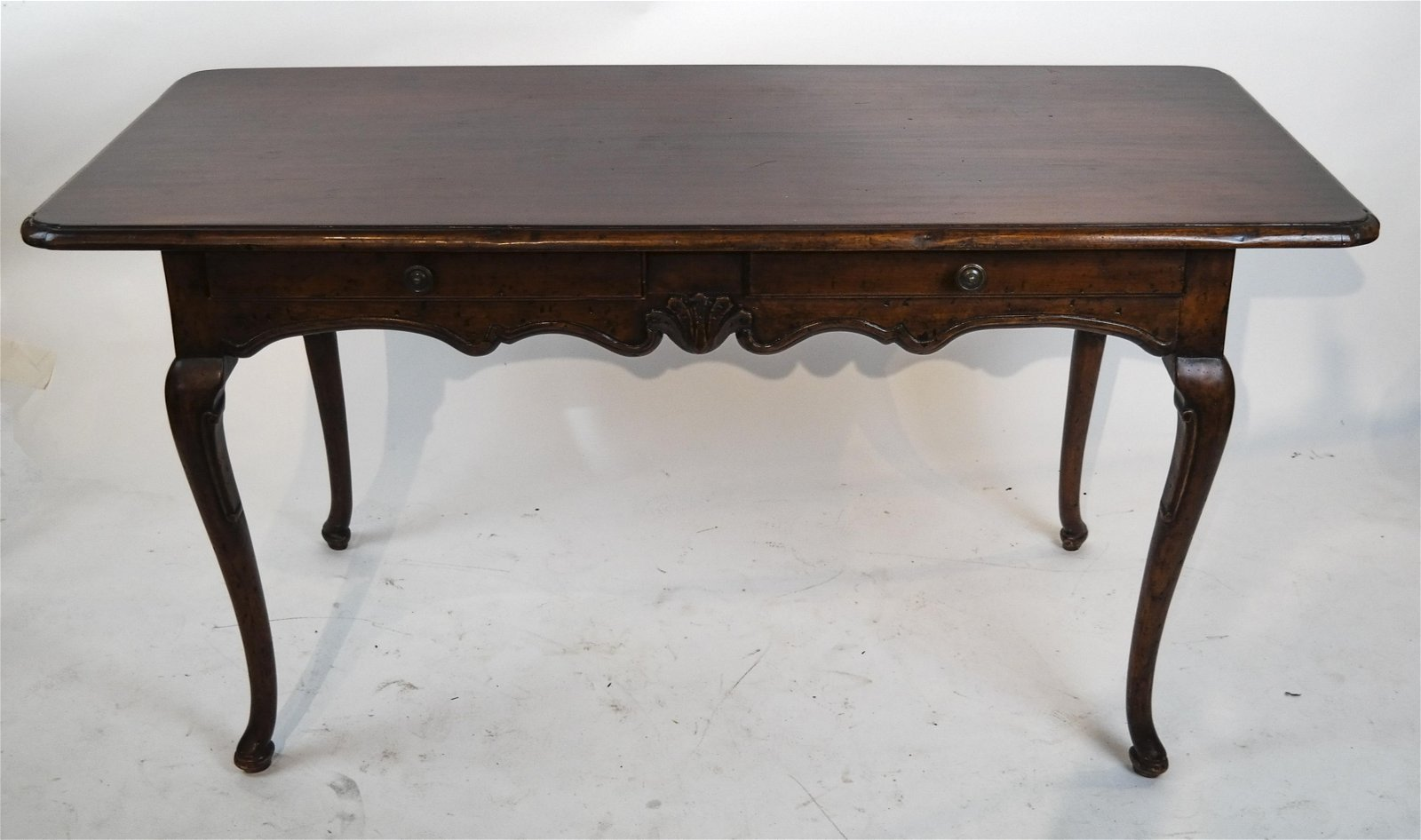 French Provincial-Style Two-Drawer Desk