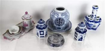 11 Assorted Ceramic & Glass Articles