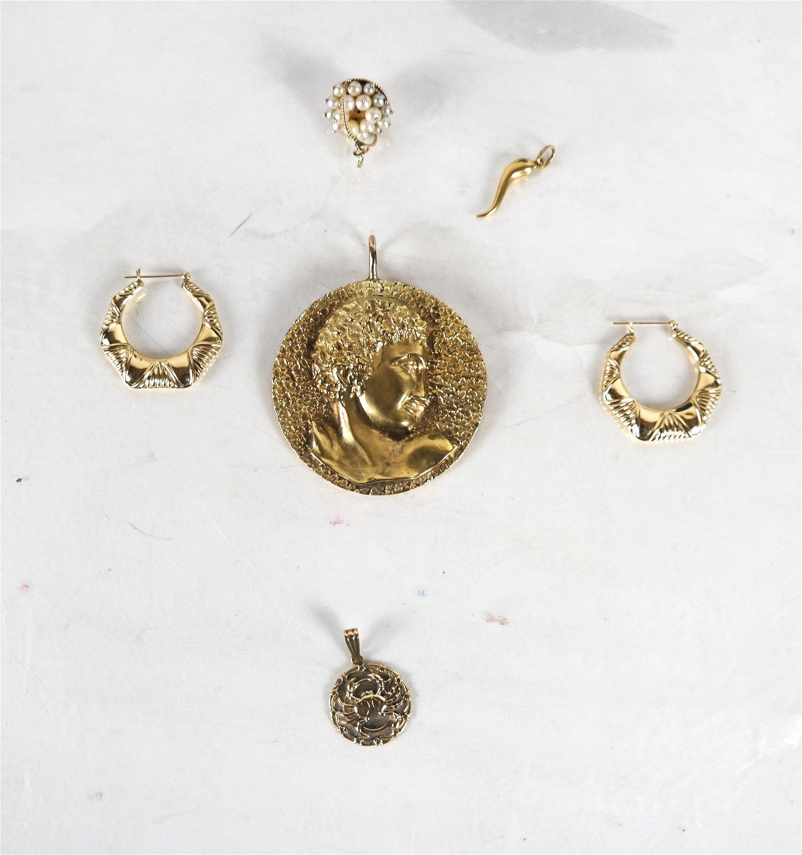 Jewelry: Five 14k Gold Jewelry Pieces