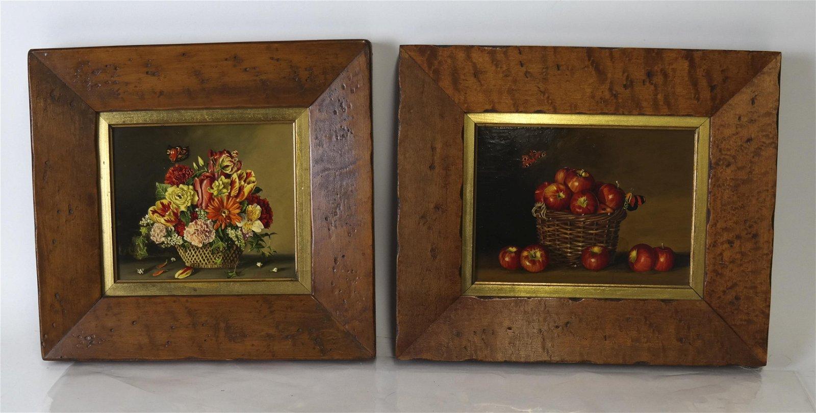 LIPTON: Pair Paintings, Still Lifes