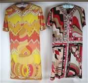 Emilio PUCCI: Vintage Two Silk Dresses