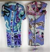 Emilio PUCCI: Vintage, Two Silk Dresses