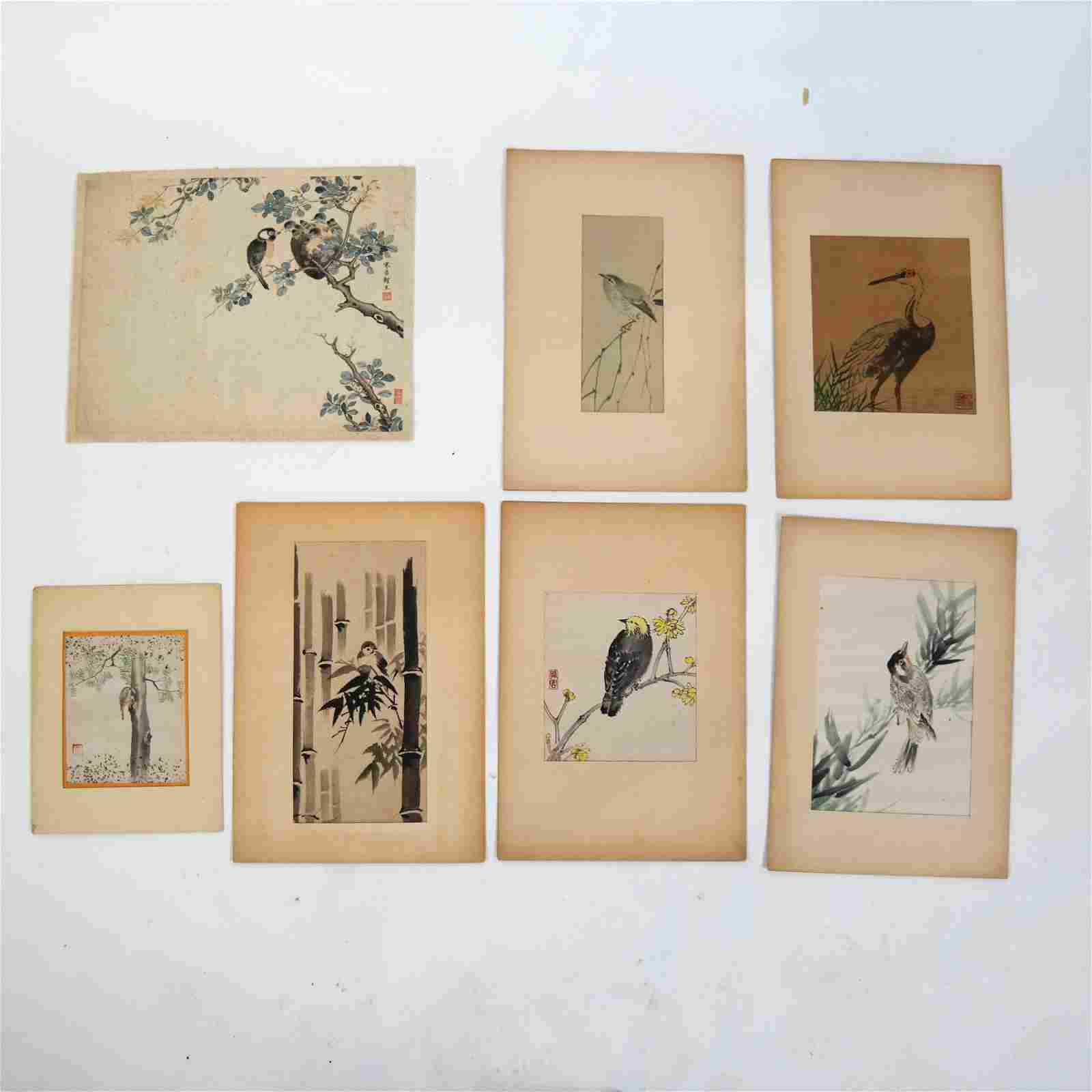 7 Chinese Bird-Themed Watercolors
