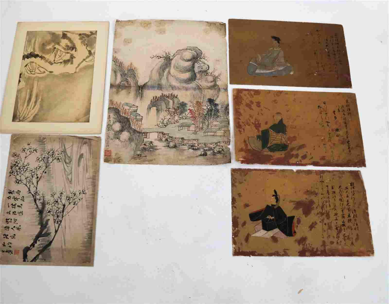 Six Chinese Landscape Watercolors