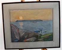 Pascal de MALYANI Coastal Scene  Pastel