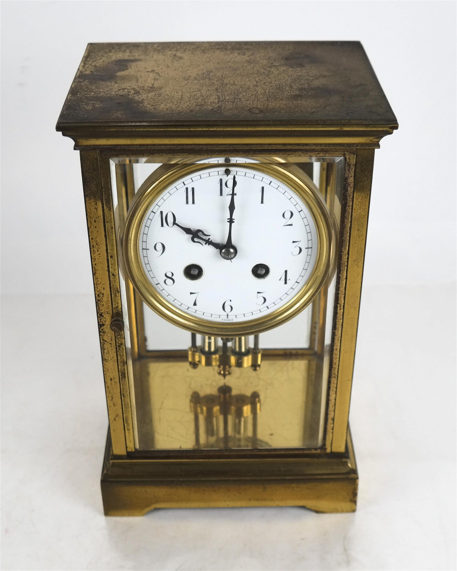 French Antique Bronze Regulator Clock