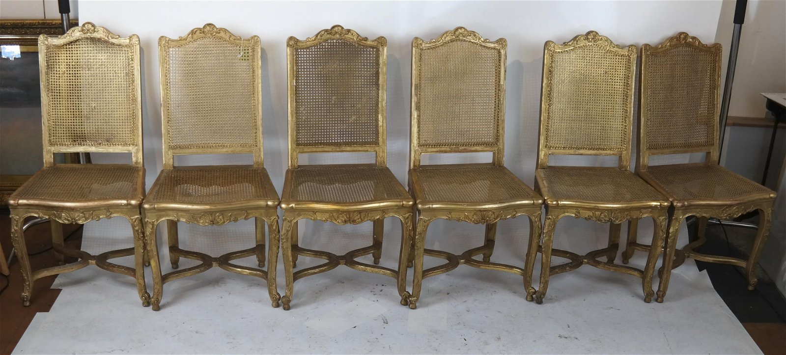 12 Regence-Style Gilt Wood Chairs