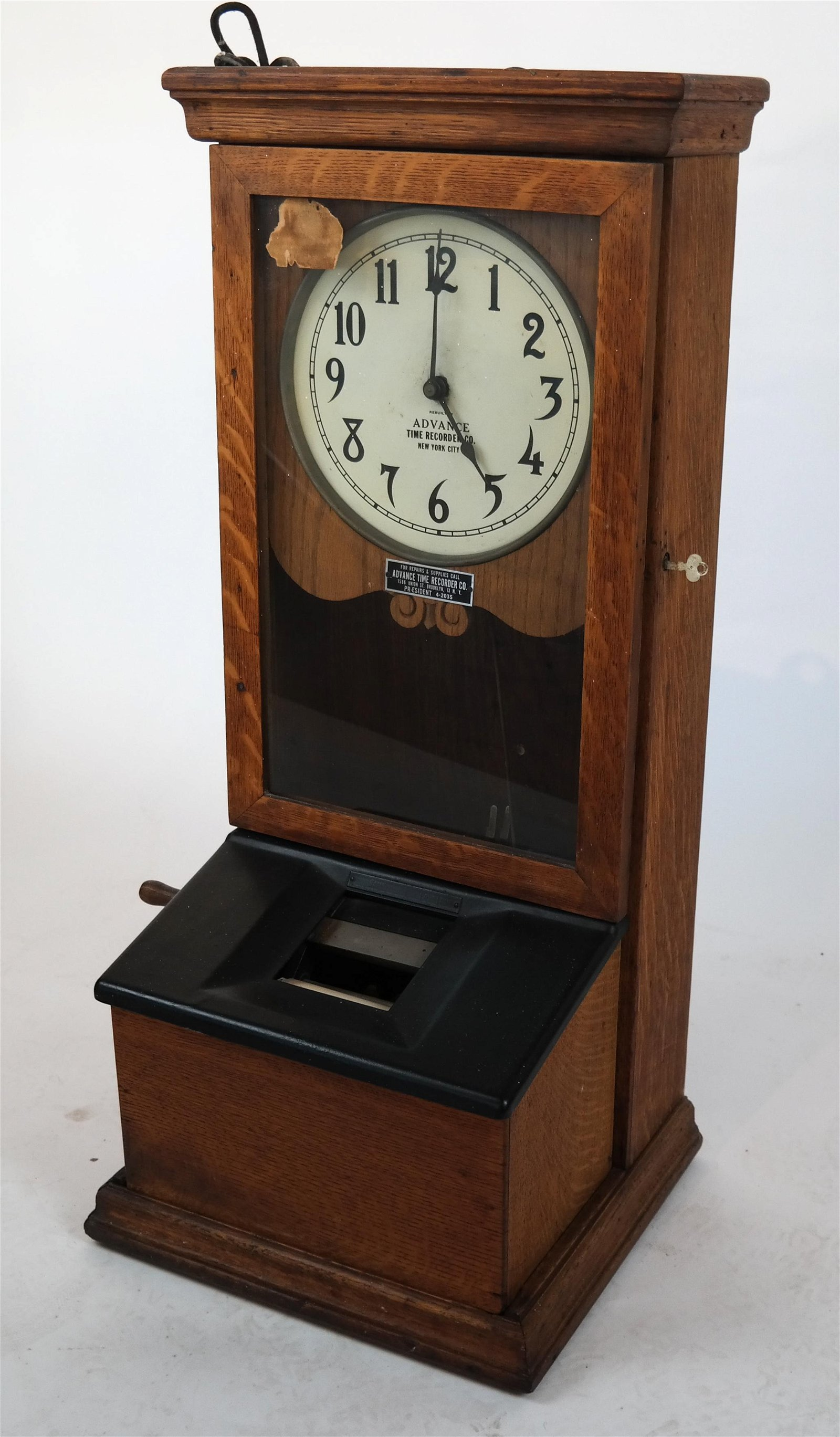 Advance Time Recorder Co. Clock