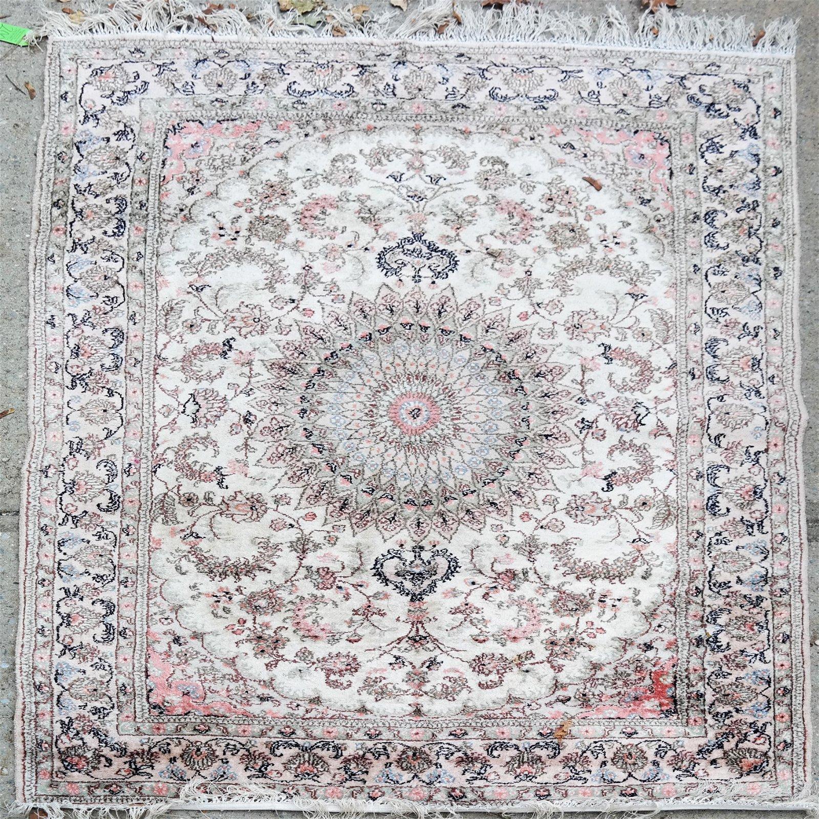 Persian Silk Cream Rug