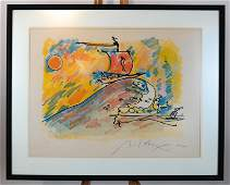 """Peter MAX:  """"Summer Voyage"""" - Lithograph"""