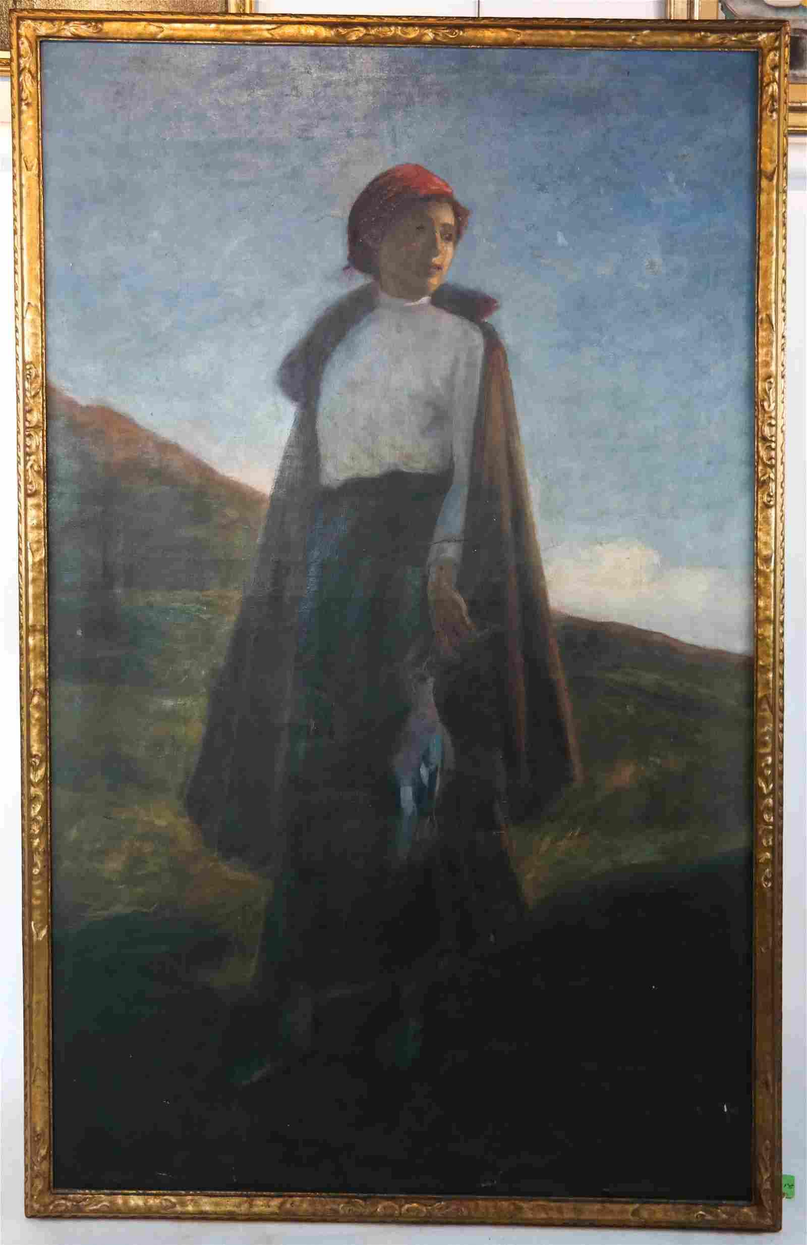 19th C. Continental School - Peasant Woman - O/C