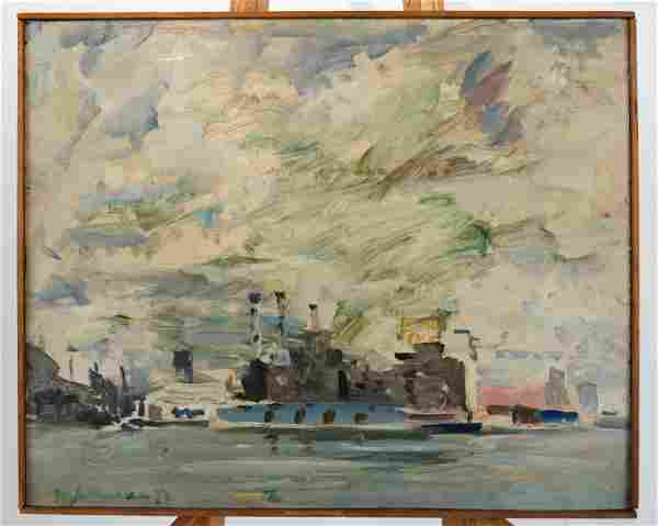 Raoul MIDDLEMAN: Boats (Untitled) - O/C