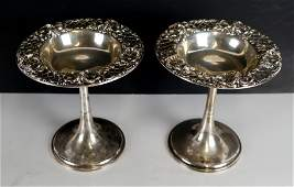 Pair of Whiting Sterling Silver Tazzas
