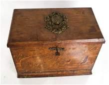 Antique English Oak Letter Box