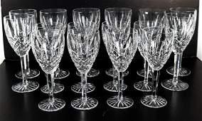 16 Pcs Waterford Crystal Araglin Stemware