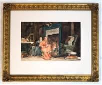 """Jean Georges VIBERT: """"Abres Roberti"""" - Watercolor"""