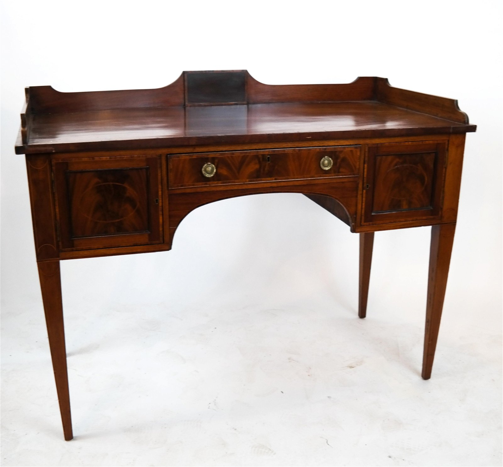 George III-Style Inlaid Mahogany Dressing Table