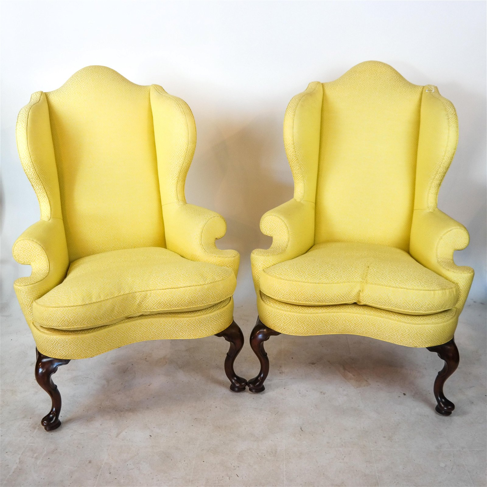 Pair of Kittinger Queen Anne-Style Wing Chairs