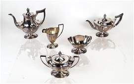 5Pc Gorham Sterling Tea  Coffee Set