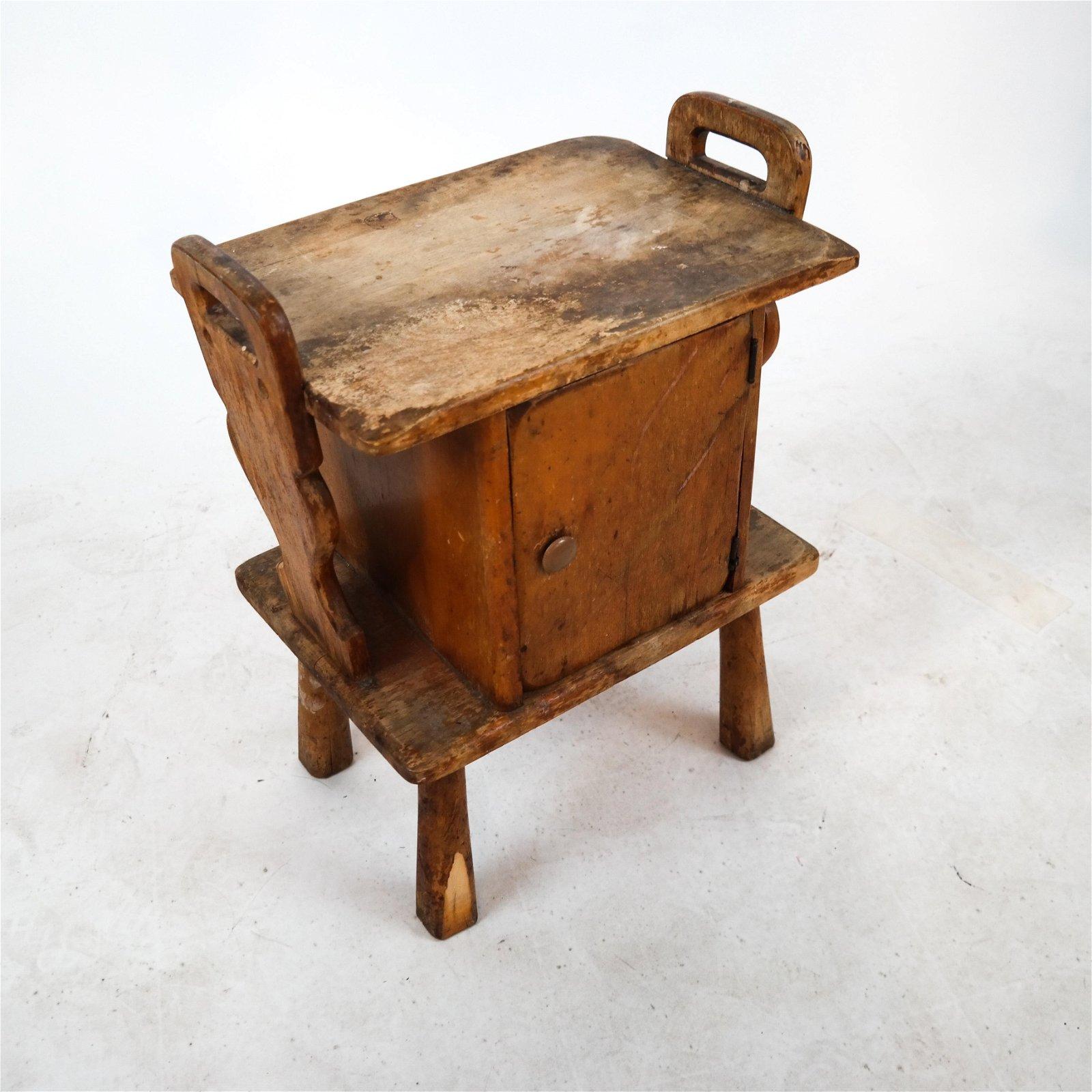 Rustic Antique Pine Cupboard/Stand