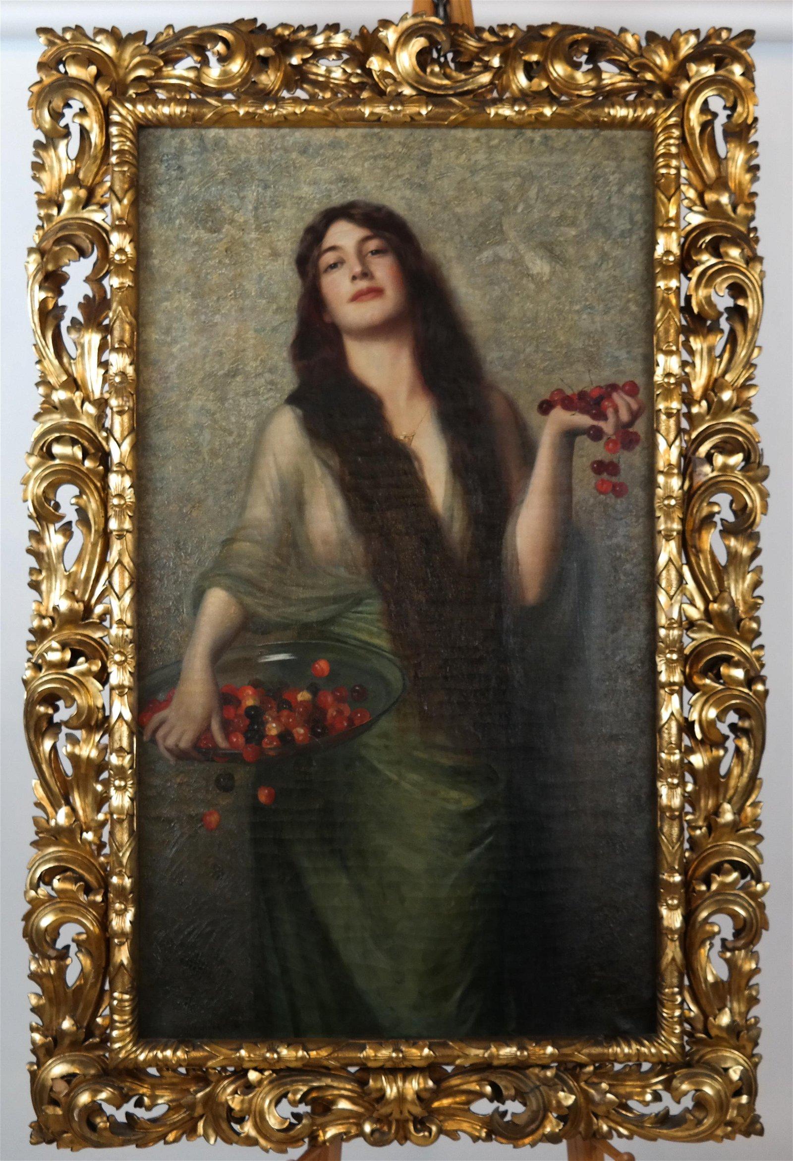 Max NONNENBRUCH:  Girl w/ Bowl of Cherries - O/C