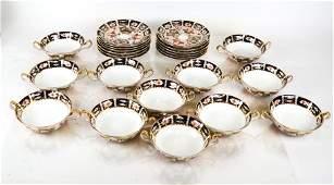 "12 Royal Crown Derby ""Imari"" for Tiffany Soup Sets"