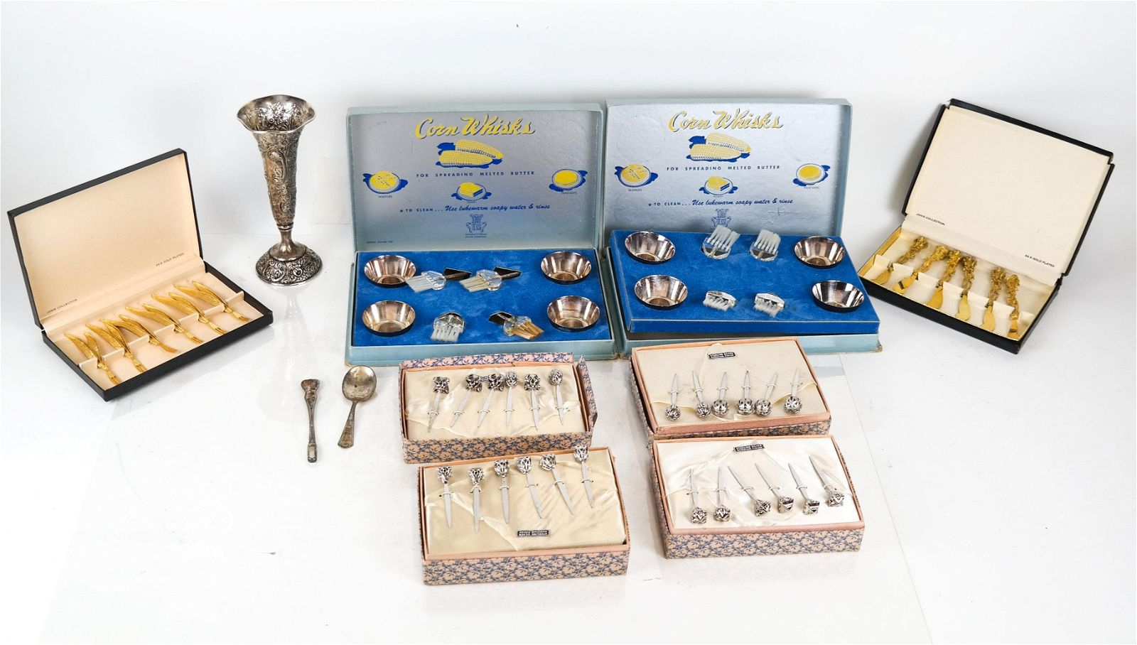 Lot of Sterling, Silver Plate, 24K Gold Plate